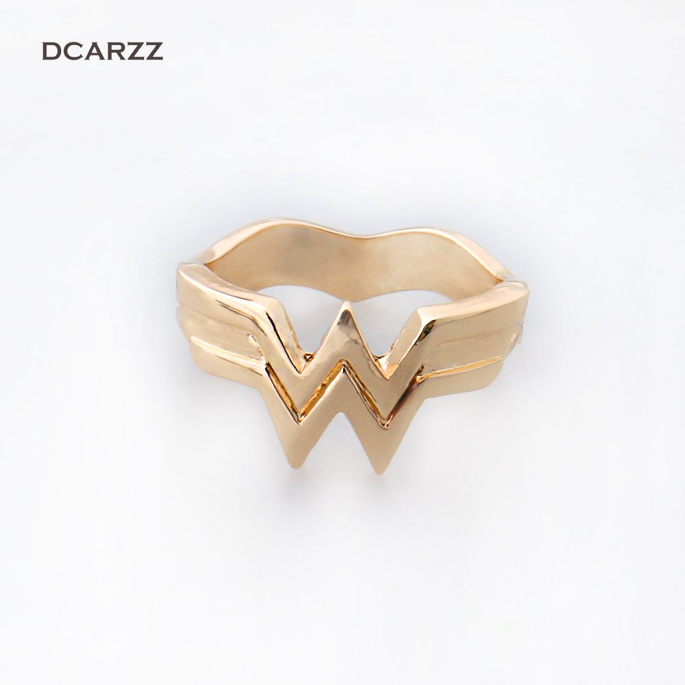 wonder woman #11 Rings 3D Wonder Woman Logo Ring Jewelry