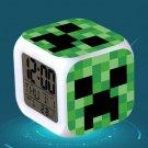 Minecraft Led Alarm Clock #02 Minecraft Cartoon Figures LED Alarm Clock