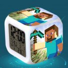 Minecraft Led Alarm Clock #09 Minecraft Cartoon Figures LED Alarm Clock