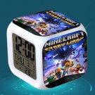 Minecraft Led Alarm Clock #10 Minecraft Cartoon Figures LED Alarm Clock