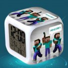 Minecraft Led Alarm Clock #20 Minecraft Cartoon Figures LED Alarm Clock