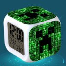 Minecraft Led Alarm Clock #22 Minecraft Cartoon Figures LED Alarm Clock