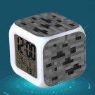Minecraft Led Alarm Clock #33 Minecraft Cartoon Figures LED Alarm Clock