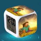 Minecraft Led Alarm Clock #36 Minecraft Cartoon Figures LED Alarm Clock