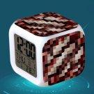 Minecraft Led Alarm Clock #39 Minecraft Cartoon Figures LED Alarm Clock