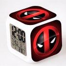 Deadpool Marvel Heroes Led Alarm Clock #04 Deadpool Movie Figures LED Alarm Clock
