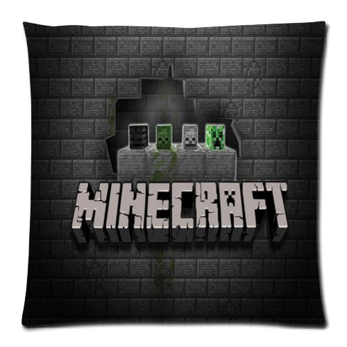 "20""x20"" Pillow Case Minecraft #235 Twin Side Cushion Case Bedroom Design"