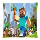 """20""""x20"""" Pillow Case Minecraft #33 Twin Side Cushion Case Bedroom Design"""