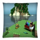 """20""""x20"""" Pillow Case Minecraft #27 Twin Side Cushion Case Bedroom Design"""