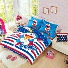 Full size Doraemon #23 Cartoon Bedding Set Duvet Cover Pillow Case Bedsheet