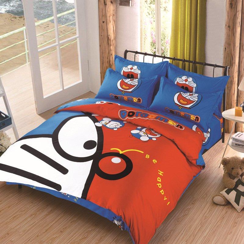 Queen size Doraemon #2 Bedding Set Duvet Cover Pillow Case Bedsheet
