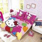 Twin Size Hello Kitty #2 Bedding Set Duvet Cover Pillow Case Bedsheet