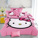 Queen Size Hello Kitty #3 Bedding Set Duvet Cover Pillow Case Bedsheet