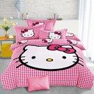 Hello Kitty Design No. 3 Bedding Set Duvet Cover Pillow Case Bedsheet Full Size
