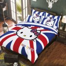 Queen Size Hello Kitty #4 Bedding Set Duvet Cover Pillow Case Bedsheet