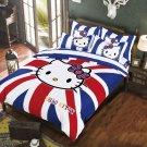 Full Size Hello Kitty #4 Bedding Set Duvet Cover Pillow Case Bedsheet