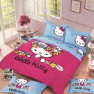 Full Size Hello Kitty #5 Bedding Set Duvet Cover Pillow Case Bedsheet