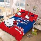 Queen Size Hello Kitty #6 Bedding Set Duvet Cover Pillow Case Bedsheet