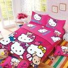 Hello Kitty Design No. 7 Bedding Set Duvet Cover Pillow Case Bedsheet Queen Size