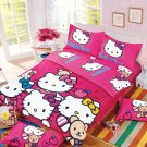 Hello Kitty Design No.7 Bedding Set Duvet Cover Pillow Case Bedsheet Full Size