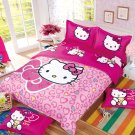 Full Size Hello Kitty #8 Bedding Set Duvet Cover Pillow Case Bedsheet