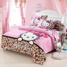 Queen Size Hello Kitty #9 Bedding Set Duvet Cover Pillow Case Bedsheet