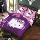 Queen Size Hello Kitty #10 Bedding Set Duvet Cover Pillow Case Bedsheet