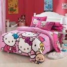 Queen Size Hello Kitty #11 Bedding Set Duvet Cover Pillow Case Bedsheet
