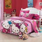Twin Size Hello Kitty #11  Bedding Set Duvet Cover Pillow Case Bedsheet