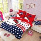 Hello Kitty Design No.11  Bedding Set Duvet Cover Pillow Case Bedsheet Full Size