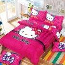 Queen Size Hello Kitty #13 Bedding Set Duvet Cover Pillow Case Bedsheet
