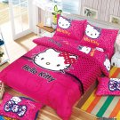 Twin Size Hello Kitty #13  Bedding Set Duvet Cover Pillow Case Bedsheet
