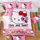 Full Size Hello Kitty #15 Bedding Set Duvet Cover Pillow Case Bedsheet