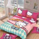 Twin Size Hello Kitty #16 Bedding Set Duvet Cover Pillow Case Bedsheet