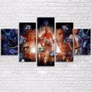 5 Pieces Retro Classics Movie 5 Piece Wall Art Canvas Prints Size C (NO FRAME)
