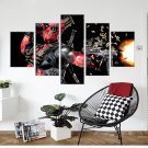 Deadpool Movie 5 Piece Wall Art Canvas Prints Size B (NO FRAME)