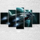 The Spaceship 5 Piece Wall Art Canvas Prints Size A (NO FRAME)