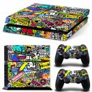 Bomb Graffiti New Design B Decal For Play Station 4 Slim Console + 2 Controller