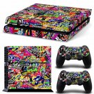 Bomb Graffiti New Design A Decal For Play Station 4 Slim Console + 2 Controller