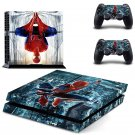 Spiderman New Design B Decal For Play Station 4 Slim Console + 2 Controller