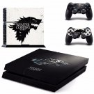 New Game of Thrones Design #13 Decal For Play Station 4 Console + 2 Controller