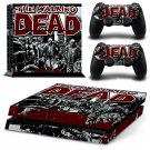 The Walking Dead Decal For Play Station 4 Console + 2 Controller