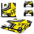 Rockstar SR Decal For Play Station 4 Console + 2 Controller