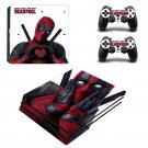Deadpool New Design #33 Decal For Play Station 4 Console + 2 Controller