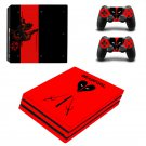 Deadpool New Design #23 Decal For Play Station 4 Console + 2 Controller