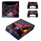 Deadpool New Design #25 Decal For Play Station 4 Console + 2 Controller