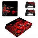 Deadpool New Design #26 Decal For Play Station 4 Console + 2 Controller