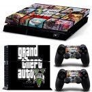 Grand Theft New Design #54 Decal For Play Station 4 Console + 2 Controller
