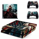 Assassin Creed New Design #07 Decal For Play Station 4 Console + 2 Controller