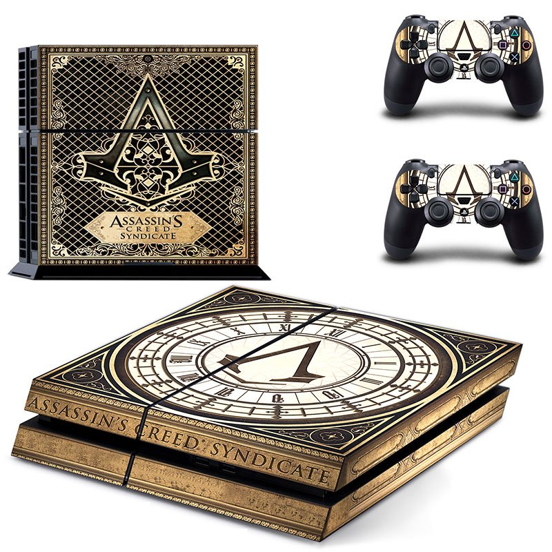 Assassin Creed New Design #14 Decal For Play Station 4 Console + 2 Controller